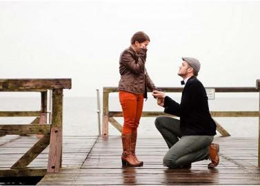 Heiratsantrag an der Ostsee