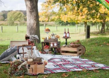 Herbstlich-Buntes Hochzeitspicknick von Fotodesign Hester