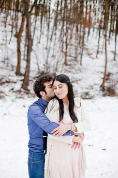 Verlobungsshooting im Schnee von Hilal and Moses