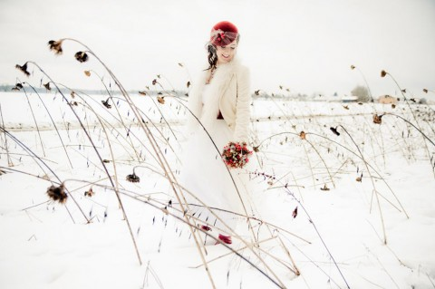 Winterliche Rotkäppchen Hochzeitsinspiration