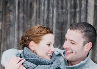 Zwei Sweethearts im Schnee
