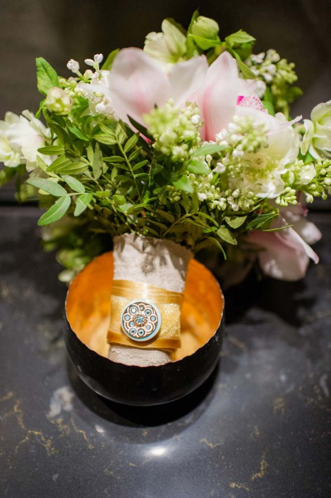 Jadegrün und Goldene HochzeitsInspirationen von hochzeitskonzept