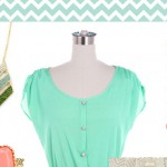Inspirationssonntag Chevron Mint-Gold