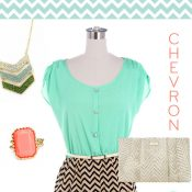 Chevron Mint-Gold