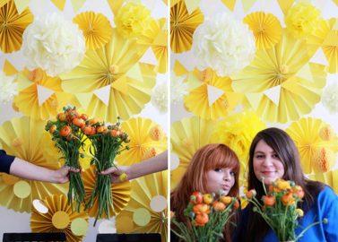 DIY-Photobooth-Background mit Papierfächern von we love handmade