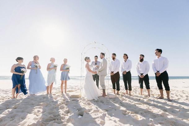 Australische Strandhochzeit von James Simmons