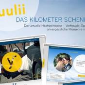 Gewinne und Wünsch mit yuulii - Das Kilometer Schenken