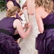 Violettfarbene Outdoor-Hochzeit von BRC Photography