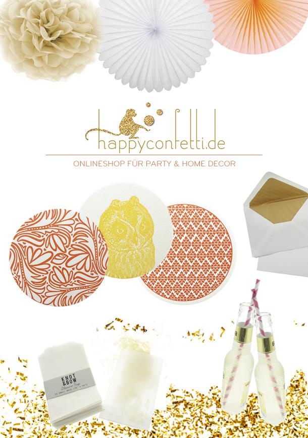 happyconfetti - Onlineshop für Party & Home Decor