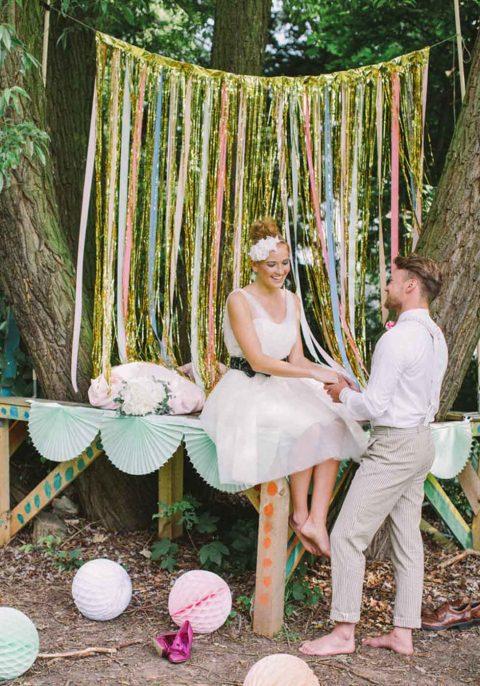 Farbenfrohe Zirkus-Hochzeitsinspiration von Nancy Ebert Fotografie