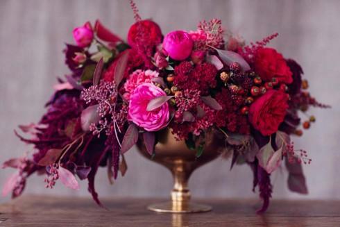 Herbstliche Hochzeitsinspirationen in Beerenfarben