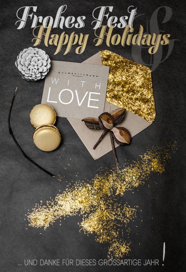 Hochzeitswahn wuenscht frohe Weihnachten