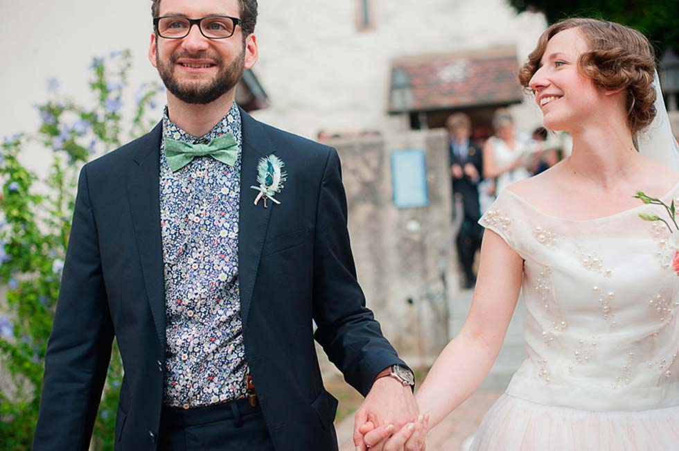 Vintage inspiriertes Hochzeitsvergnügen im Schloss Bollschweil ...