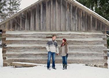 Verlobungsfeier im Schnee von Martina Wendland Photography