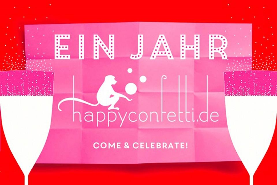 1 Jahr Happy Confetti
