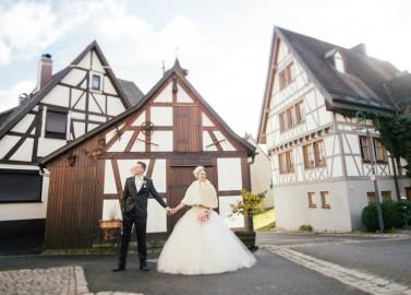 Wintertraumhochzeit auf dem Lande von Die Hochzeitsfotografen