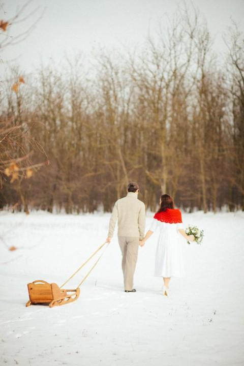Winter After-Wedding-Shooting auf dem Bauernhof von Bell Studio-Esther&Gabe