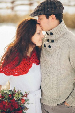 Winter After-Wedding-Shooting auf dem Bauernhof von Bell Studio-Esther&Gabe