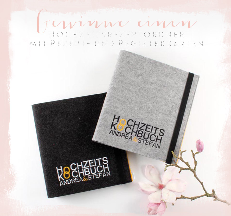 Giveaway Hochzeit: Besticktes Hochzeitskochbuch Als Geschenkidee Fürs