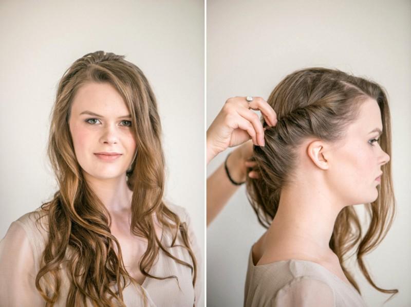 Frisches Frühlings-Make-up und romantischer Flecht-Look von Alexandra  Welke und Onamora Photography