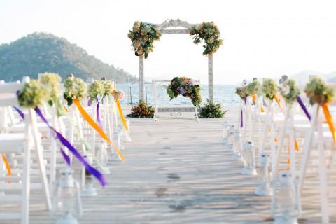 Atemberaubende Strandhochzeit in der Türkei von Yeliz Atıcı