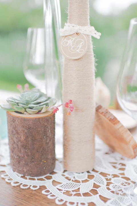 Rustikal konzipiertes Hochzeitsflair von Anmut und Sinn