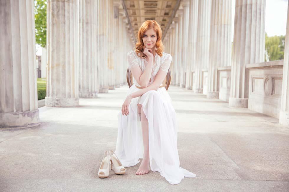 Elegant-verspielte Brautkleider im Vintage Stil von Fräulein Liebe ...