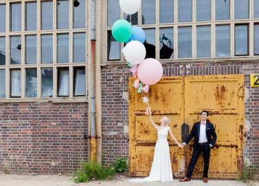 Sophia & Ivan's romantische DIY-Hochzeit