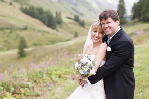 Malerische Engadin Hochzeit von Freude Lachen Liebe