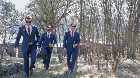 Australische Traumhochzeit in Rosengoldfarben