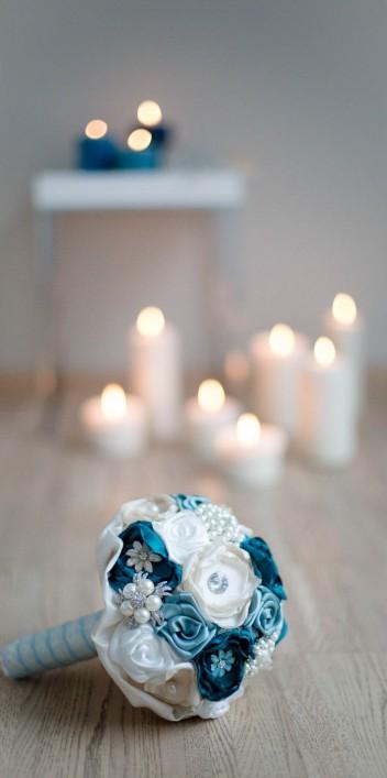 Bridal-Boudoir-Inspiration in Petrol-Farben