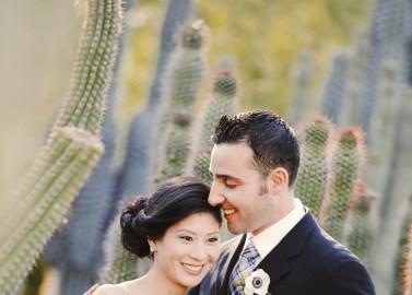 First-Look Fotoshoot im Botanischen Garten von Phoenix