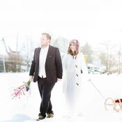 After Wedding Fotoshoot im tiefen Schnee