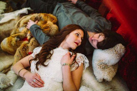 Hippie-Zeltplatz Hochzeitsinspiration