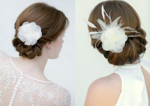 Schönmich Brauthaarschmuck Fascinator Haarblüte Hochzeitshaarschmuck Haarschmuck Braut Kopfschmuck Haarschmuck