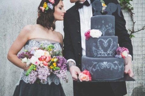 Rockig & Alternativ – Eine originelle Calkboard Hochzeitsinspiration