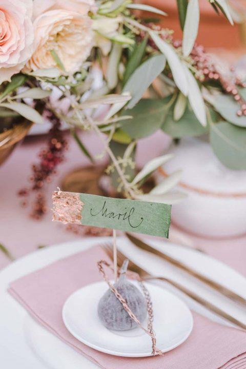 Hochzeitsinspiration: Olive trifft Glamour