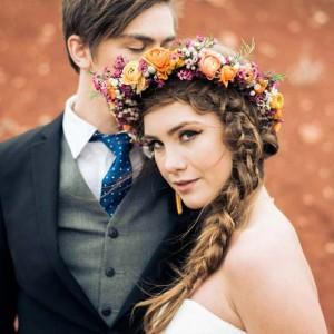 Hochzeitsinspiration: Aufsehenerregend schöne Wüstenfarben