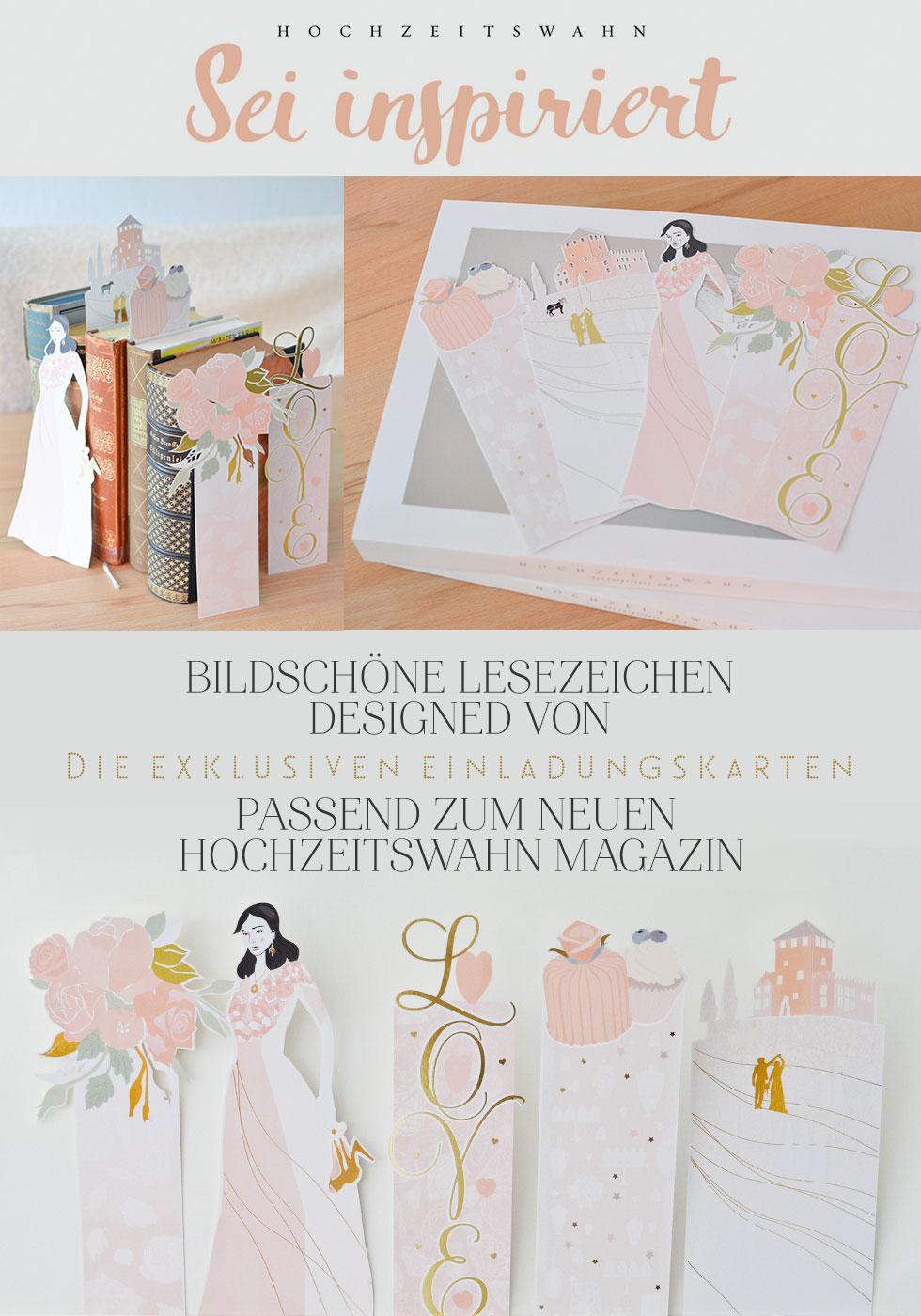 Hochzeitswahn Lesezeicehn von die exklsuiven Einladungskarten