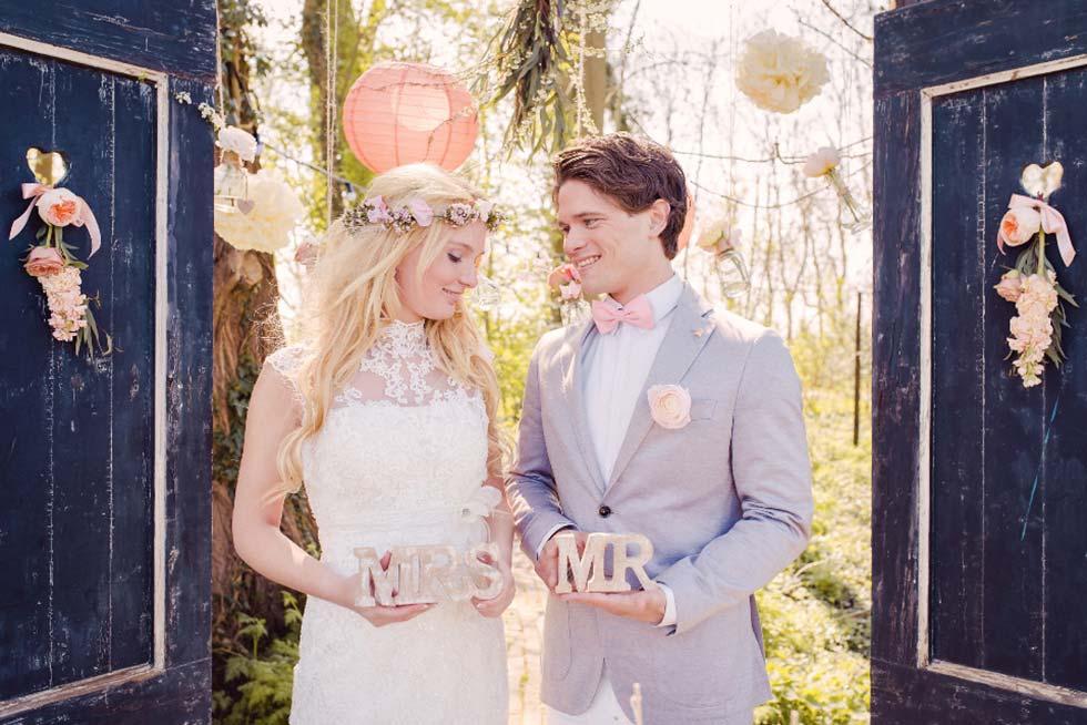 Blühender Frühling: Eine rustikal-romantische Hochzeitsinspiration
