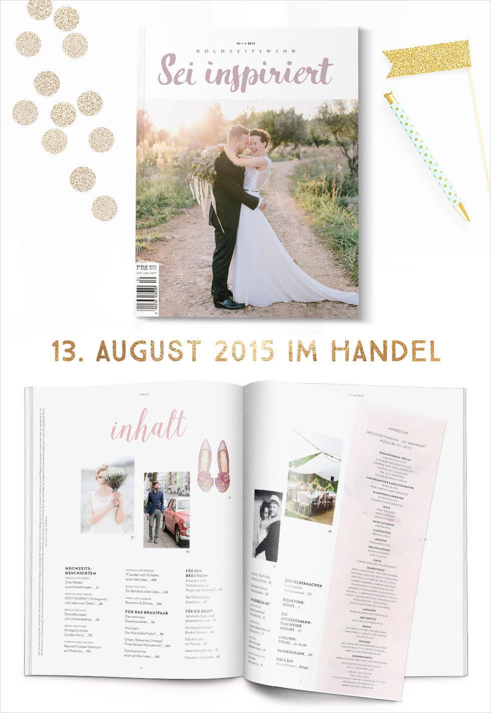 Hochzeitswahn Magazin - nur noch wenige Tage