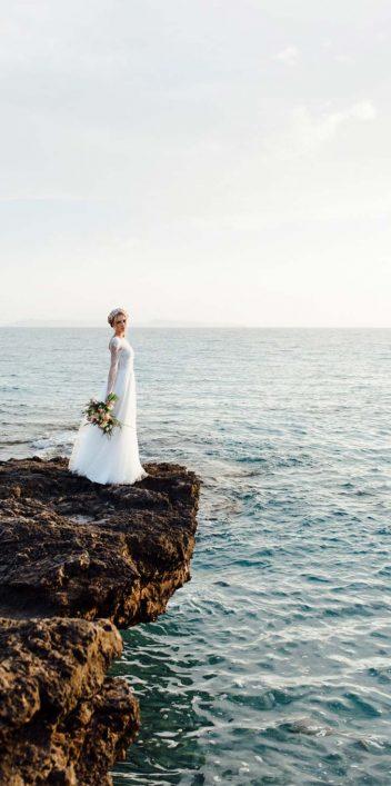 Styled Shooting: Romantischer Brautlook für eine Hochzeit mit Inselfeeling