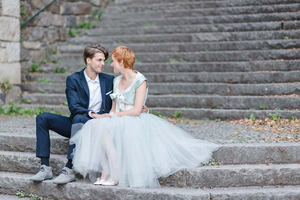 Zauberhaftes Brautstyling in einem Traum von Mint - Hochzeitswahn ...