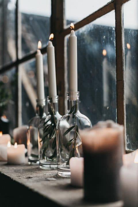 Kerzenflachen als tolle Dekoration