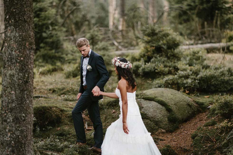Natürlich und romantisch - die Hochzeit von Laura und Sam