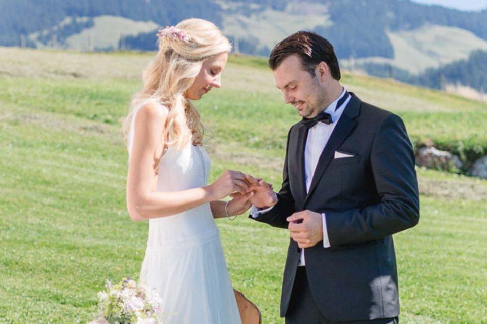 Franziska und Patrick: Romantische Hochzeit auf der Alm
