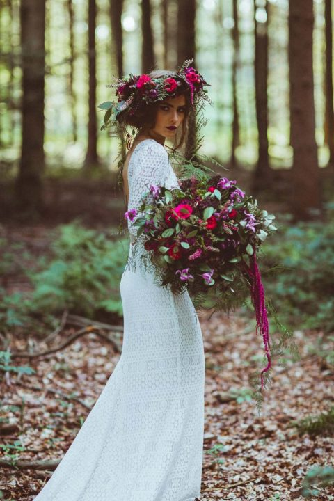Herbstliche Hochzeitsinspiration in leuchtenden Farben