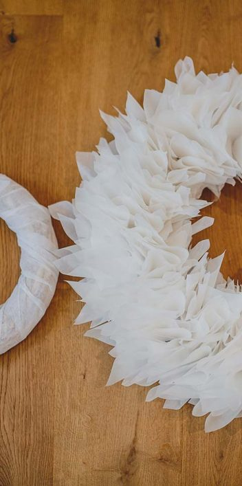 DIY-Weihnachtskranz aus Papier