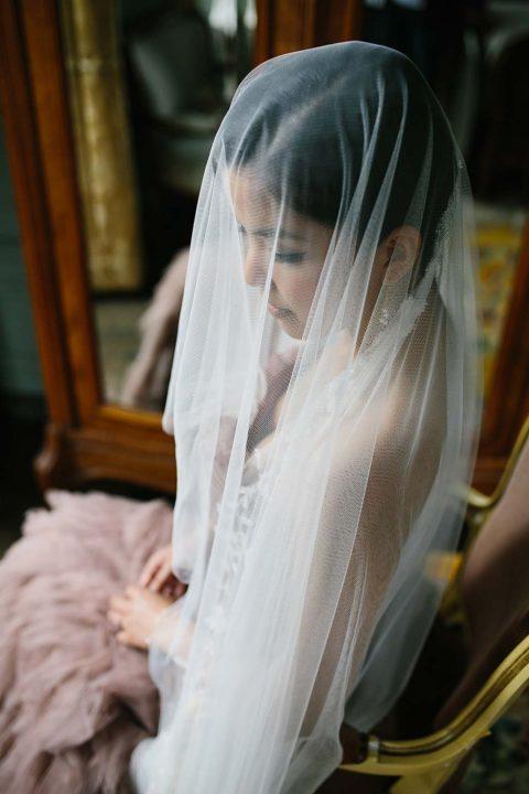 Französisches Hochzeitsmärchen in Altrosa