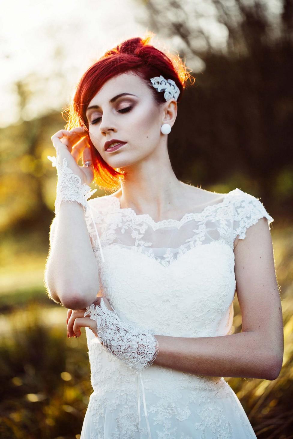Winterliche Vintage-Braut